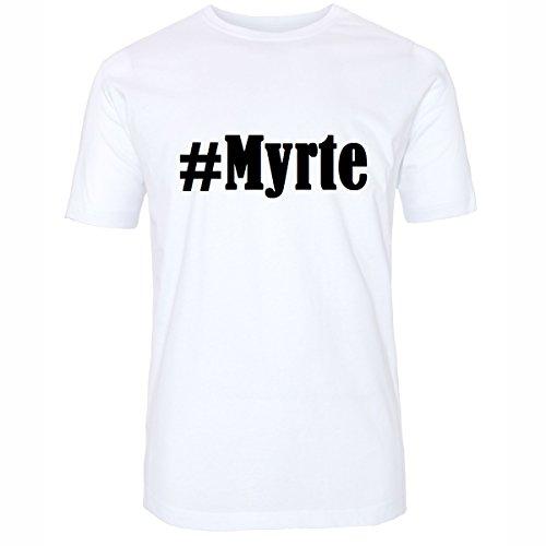 TShirt Myrte Hashtag Raute für Damen Herren und Kinder in den Farben Schwarz  und Weiss Weiß