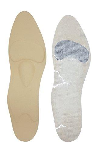 Green-Feet orthopädische Damen Komfort Schuheinlagen Beige f. High Heel, Pumps u. Absatzschuhe, 1,8mm dünnen Einlegesohlen gegen Senkfuß u. Spreizfuß (37 beige) Heels Nur