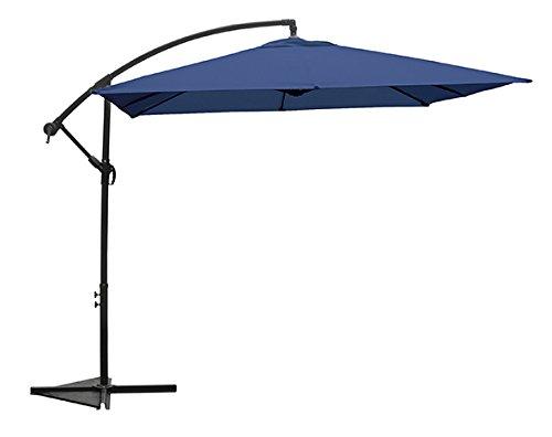 AMPELSCHIRM 2,5m eckig BLAU Sonnenschirm Gartenschirm quadratisch 250 Schirm