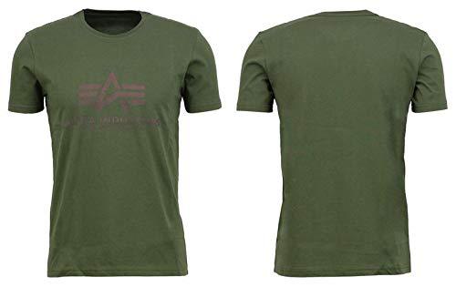 Alpha Industries Basic T-Shirt Militärgrün M (Industrie-kurzarm-baumwolle)