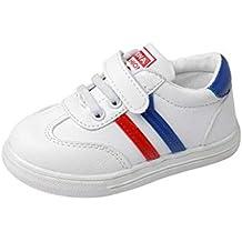 GongzhuMM Sneakers Basses Mixte Enfant,Chaussures Bébé en Cuir,Premier Pas  Bébé ... 8d3a122906a9