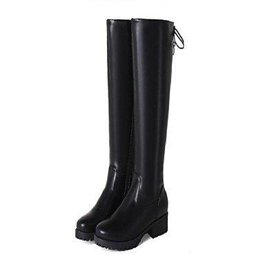 RTRY Scarpe Donna Materiale Personalizzato Inverno Comfort Novità Cinturino Alla Caviglia Cowboy / Western Stivali Snow Boots Sella Stivali Stivali Moda Combat Black Us8 / Eu39 / Uk6 / Cn39 US5.5 / EU36 / UK3.5 / CN35