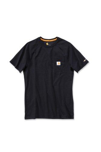 Carhartt Force® Cotton Short Sleeve T-Shirt Baumwolle mit Brusttasche 100410 (XL, schwarz) (Baumwolle Shirt Carhartt Aus)