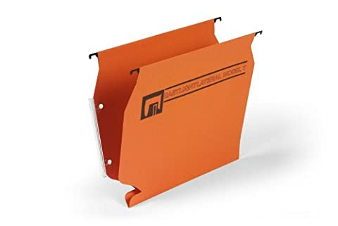 Rexel Lateral Model T Suspension Files Foolscap Orange (50 Pack)