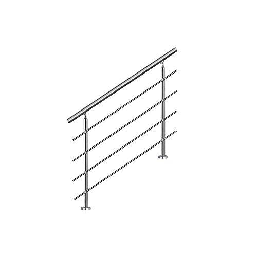 MCTECH® 100 cm Barandilla para barandilla de acero inoxidable para barandilla 4...