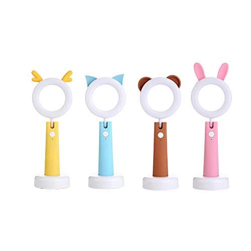 Der Augenschutz, der Tischlampenlichthaustiertischlampen-USB-Studenten lernt, der kreative Karikatur des hellen Haustieres lernt, führte das Nachtlicht, braun - Sie Nach Unten Edelstahl Biegen
