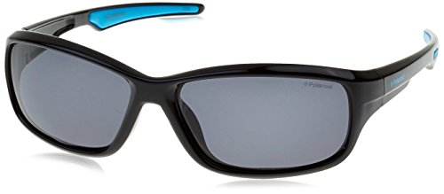 Polaroid Unisex-Kinder P0425 Y2 D51 55 Sonnenbrille, Schwarz (Black Blue/Grey Pz),