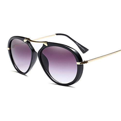 WULE-RYP Polarisierte Sonnenbrille mit UV-Schutz Straßen-Fotografie-Bunte Mode-optische klare Linsen-Gläser für Frauen und Männer. Superleichtes Rahmen-Fischen, das Golf fährt (Farbe : Schwarz)