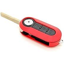 Fiat - Carcasa con mando a distancia para llave compatible con Fiat 500, Panda, Ducato, Brava, Stilo y Bravo