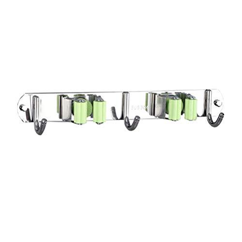 Yardwe ganci di stoccaggio a parete gancio per attrezzi per portautensili e scopa per uso domestico (2 posizioni 3 gancio)