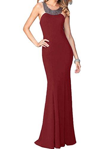 ivyd ressing Donna linea alta qualità custodia pietre Rueckenfrei Party Festa Prom abito abito sera vestito rosso vivo