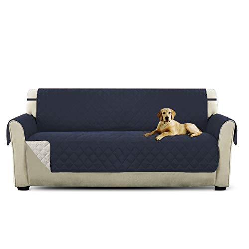 Petcute copripoltrona per divano trapuntato luxury extra morbido tutte le misure blu