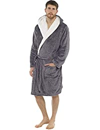 Mens Luxury Soft Comfy Fleece Dressing Gown Robe Nightwear 2630ba8cc
