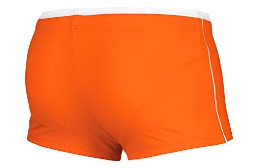 Zagano Herren Badehose / Schwimmhose / S - XXL / Kordelzug 04. Orange