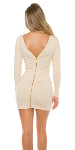 In-Stylefashion - Robe - Crayon - Femme beige beige taille unique Beige