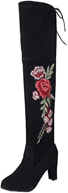 Oudan Stivali da Donna con Tacco Alto Autunno e Inverno. Scarpe Calde (Coloreee   Nero, Dimensione   42EU) | Bella Ed Affascinante Della  | Sig/Sig Ra Scarpa