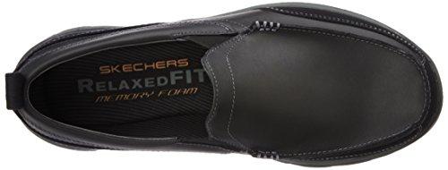 Skechers scarpe da uomo marrone scuro 'Superior Gains' in camoscio slip-on Black