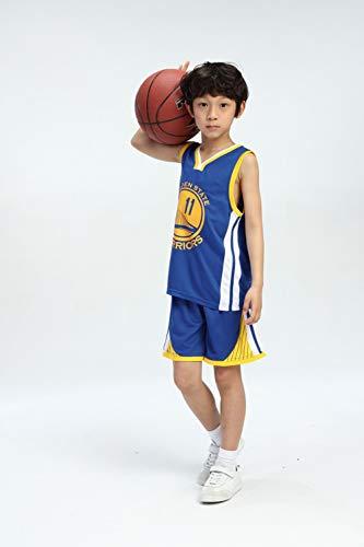 LZNK Kid Boy Herren NBA Warriors 30 Curry Basketball Shorts Sommer Trikots Basketball Uniform Swingman Jersey Top \u0026 Short-Blue-XXL (Uniformes De La Nba)