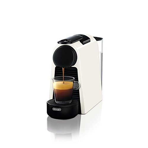 De\'Longhi Nespresso Essenza Mini | EN 85.W Kaffeekapselmaschine | Gratis Welcome Set mit Kapseln in unterschiedlichen Geschmacksrichtungen | 19 bar Pumpendruck | Platzsparend | Weiß