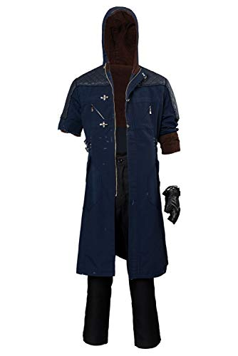 MingoTor DMC Superheld Outfit Cosplay Kostüm Beschädigte Version Herren XXL