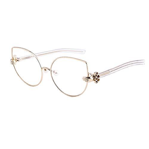 Blaulicht Schutzbrille Blaulicht blockieren Brille Mode Flache Brillengestell Gezeiten Persönlichkeit Strahlung Neue Persönlichkeit Licht ZHAOSHUNLI (Farbe : Gold)