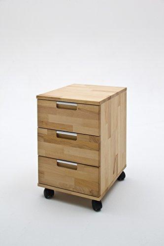 Robas Lund Schreibtisch- Container, Bürocontainer, Masimo, Kernbuche/Massivholz, 56 x 49 x 43 cm,...