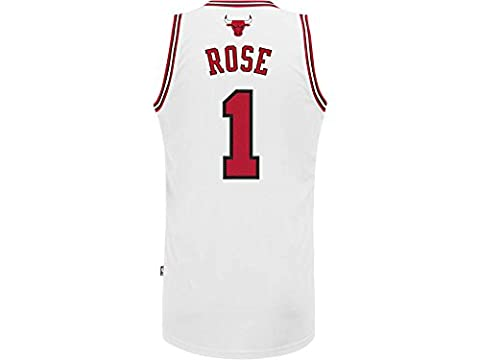 adidas Derrick Rose #1 Chicago Bulls Swingman NBA Jersey White XL