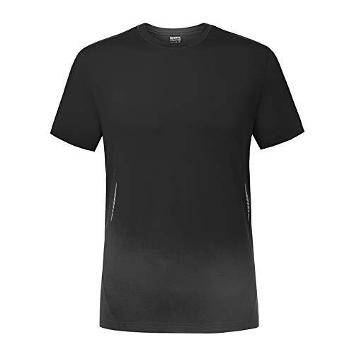 WATERFLY Sport Fitness T-Shirt Männer, Herren T-Shirt Schweiß Automatisch Ableiten Funktionsshirts Atmungsaktiv Kurzarm Fitness Shirt Schnell Trocknend UV-Schutz Sportshirt Erkennung UPF 50+