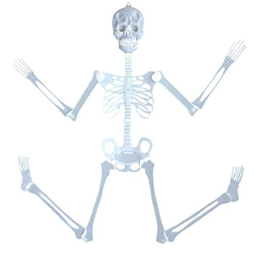 happy event Halloween 90cm Leuchtend Totenkopf Skelett Körper Gruseliges Spielzeug Spukhaus Tricky Prop | 90cm Luminous Skull Skeleton Body Scary Halloween Toy Haunted House Tricky Prop