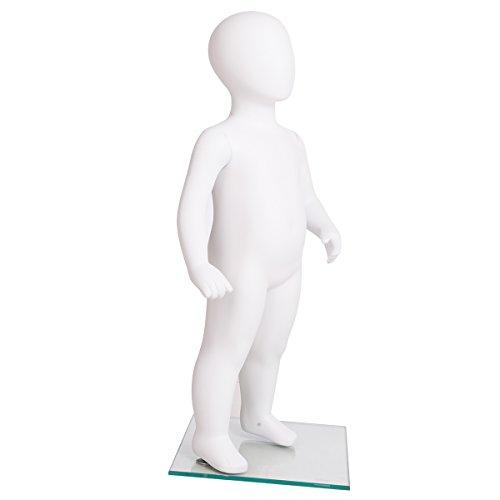 weiß-mattem Schaufensterpuppe Mannequin Kinder Kinderpuppe Schaufensterfigur Puppe matt-weiss