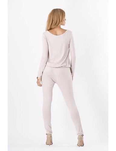 GSP-la mode à manches longues combinaison mince des femmes khaki-l