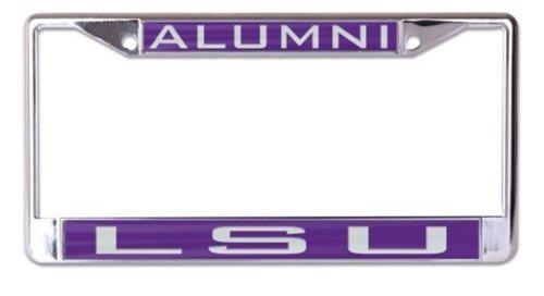 Wincraft Snack-Schale NCAA Louisiana State University LSU Tigers Alumni 6x 12eingelegten Acryl/Metall Nummernschild Rahmen Lsu Louisiana State University