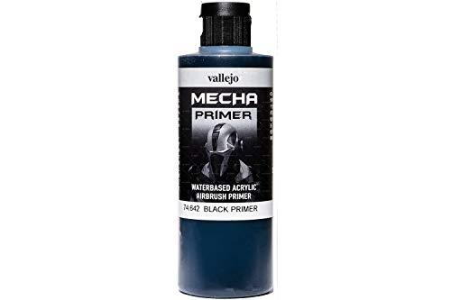 Vallejo 200ml'AV Mecha colore acrilico Airbrush Colour-Black primer