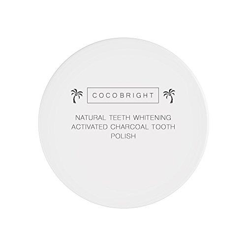 Zahnaufhellung Aktivkohle Pulver von COCOBRIGHT | Natürliches Bleaching für Zähne | Weisse Zähne dank Aktivkohle Zahnpasta| Kokosnuss Aktivkohle Zähne - 2