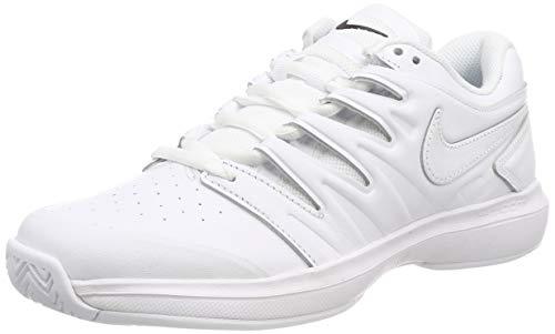 Nike Herren Air Zoom Prestige Hc Lthr Sneakers, Weiß White/Black 001, 40 - Zoom Air Tennis Prestige Nike