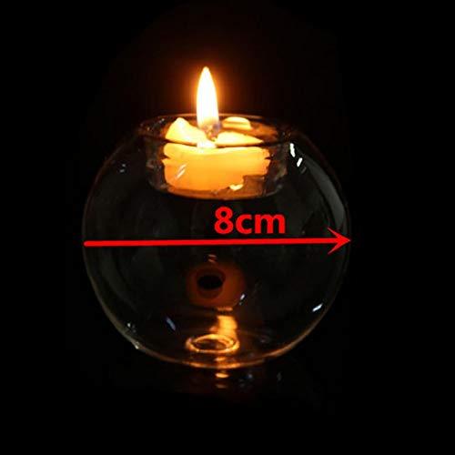 Eliky Kerzenhalter aus Kristallglas, romantisch, Halloween, Party, Weihnachtsdekoration