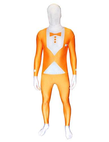Tuxedo Morphsuit Kostüm - UV Morphsuit Tuxedo Anzug orange L