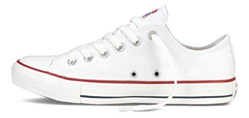Converse Converse Sneakers Chuck Taylor All Star M7652, Unisex-Erwachsene Sneakers, Weiß (Optical White), 43 EU (9.5 Erwachsene UK) -