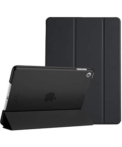 ProCase Coque iPad 10.2 Pouces 7ème Génération 2019 A2197/A2198/A2200, Smart Cover Case Housse Étui de Protection avec Support Fonction et Veille/Réveil Automatique-Noir