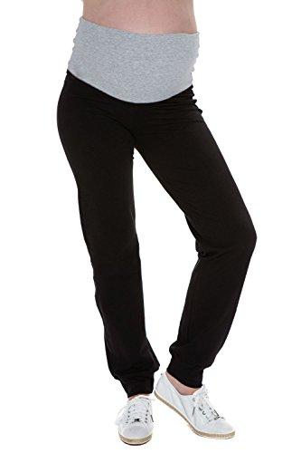 Mutterschafts Hose Umstands Hose Jogginghose Trainingshose Freizeithose grau Bauchband M (medium) Umstandsmode von MY TUMMY ®©™