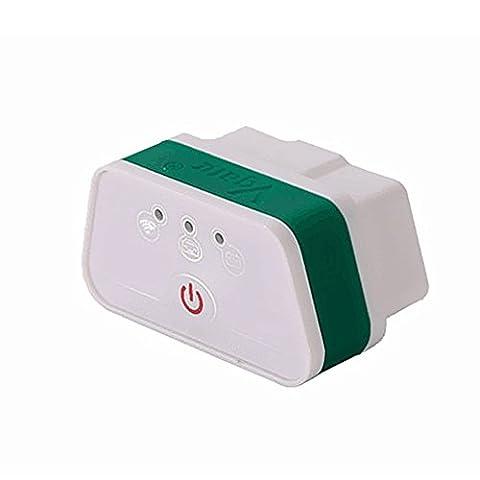 Vgate Mini iCar2 Véhicule Wifi / Wireless OBD2 OBDII Diagnostic Interface Outil pour IOS iPhone iPad Android Java PC supporte tous les OBD II-Protocoles / OBD-connecteur (blanc / vert)