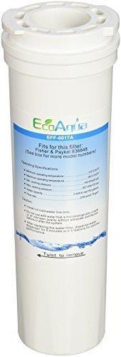 Amana Side-side Kühlschrank (1x EcoAqua EFF EFF-6017A Kühlschrank-Filter für Eis/Wasser, geeignet für Fisher & Paykel 836848, 836860, Amana, Clean 'n Clear, 67003662, PS2067635, 1197601, RO185011, RO185014, WF60, C2, FilterLogic FL-380, FFL-120F, Swift Green SGF-FP48, Ice Pure RFC2400A)