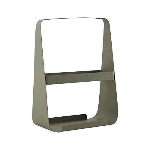 House Doctor Zeitschriftenständer Tarngrün Stahl H35cm