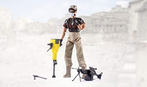 World Peacekeepers Peacekeepers Male Figure Military Action | 30,5cm High | 1: 6 Scale | Combat Soldier with more than 16 Accessories | Intended for children and adults