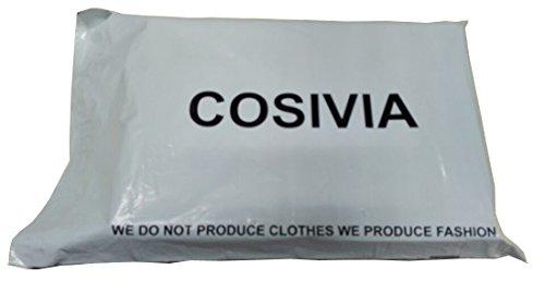 COSIVIA Femme Robes Robe de soirée Manche longue O-cou Robe Maxi Sexy Elégant confiants, Bleu/ Bordeaux,Taille M/L Noir