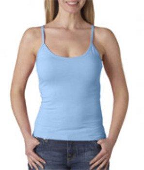 Anvil 325 Ladies' Semi-Sheer Junior Fit Longer Length Spaghetti Strap Tank Top (Anvil Tank Top Womens)