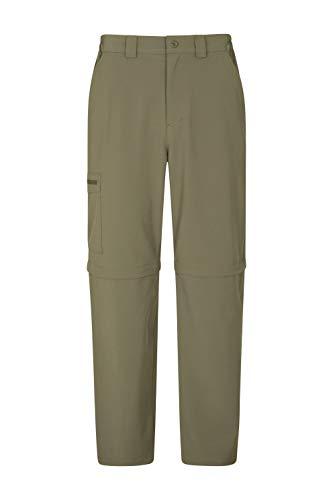 Mountain Warehouse Stride Zip-Off-Herrenhose - UPF50+, leicht, bequemes Verstauen, schnell trocknend, lässiger Look - Herrenbekleidung Für Arbeit, Wandern, Frühling Hellkhaki 44