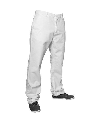 Urban Classics Herren Chino Pants - Regular Fit, Größe:W 30;Farbe:white Classic Fit Chino