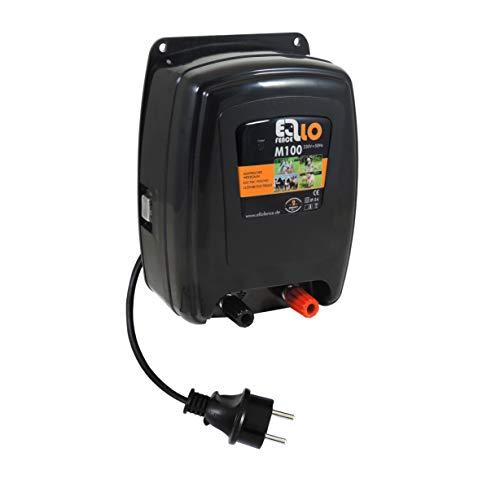 Eider Weidezaungerät/Elektrozaungerät M100, 230 Volt Netzgerät zum Hüten von Pferden und Nutztieren, Schutz vor Dachs, Fuchs und Waschbär