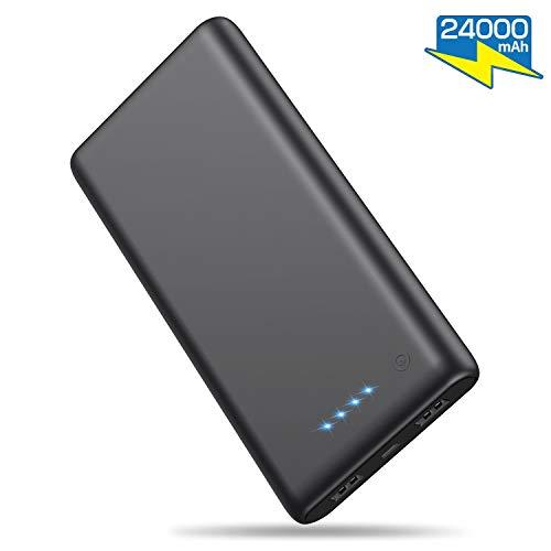 iPosible Batería Externa 24000mAh [Versión Actualizada] Alta Capacidad New Dual Puertos Cargador Portátil Móvil...